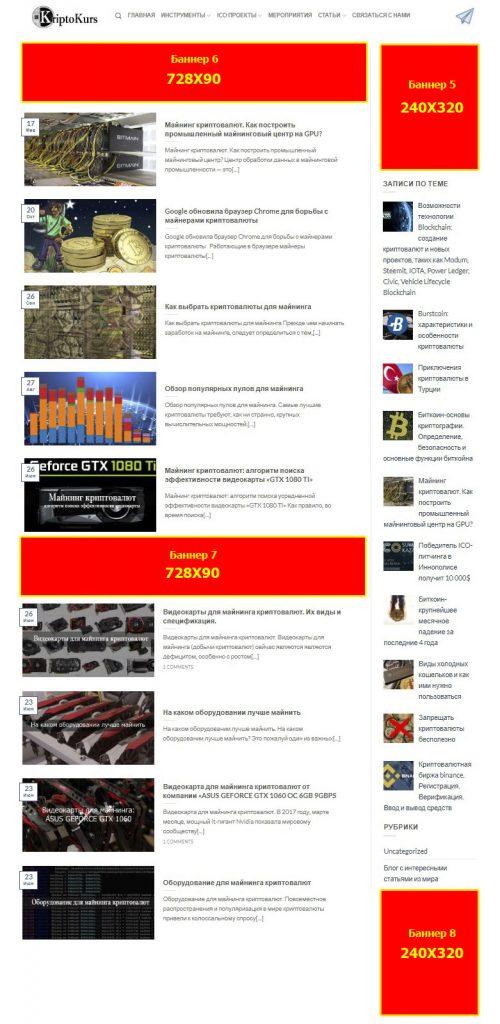 Размещение рекламных материалов на ресурсе