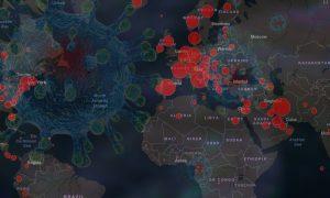 карта заболевших короновирусом